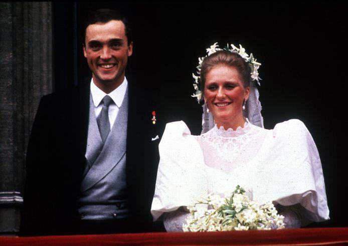 Astrid en Lorenz op hun huwelijksdag in 1984.