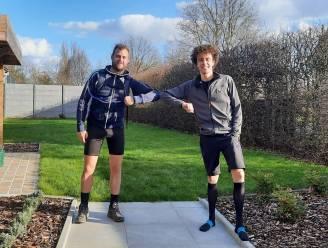 Zaterdag was ideale dag om grenzen te verleggen: Jonas (25) loopt 73 kilometer en Lenny (27) wandelt 100 kilometer