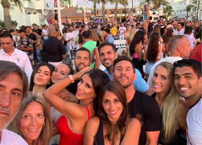 Messi, Jordi Alba, Suarez et Fabregas étaient présents à Ibiza.