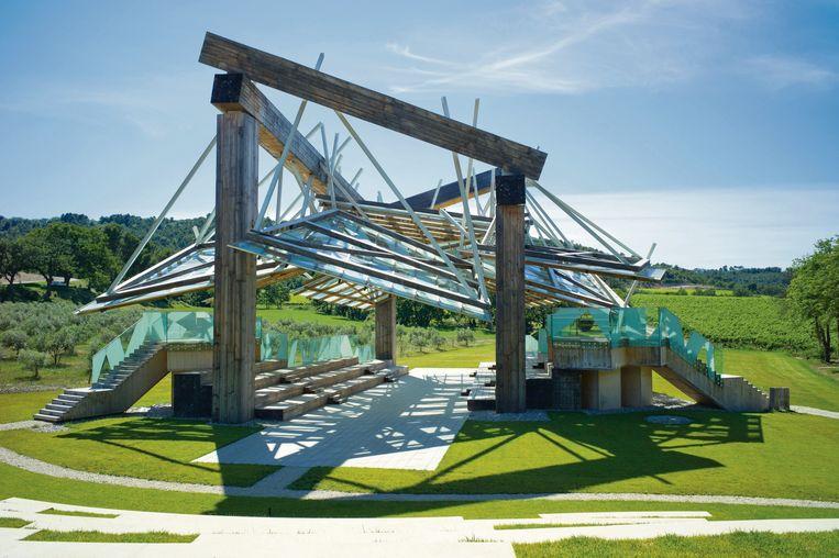 Het muziekpaviljoen van Frank Gehry. Beeld Andrew Pattman