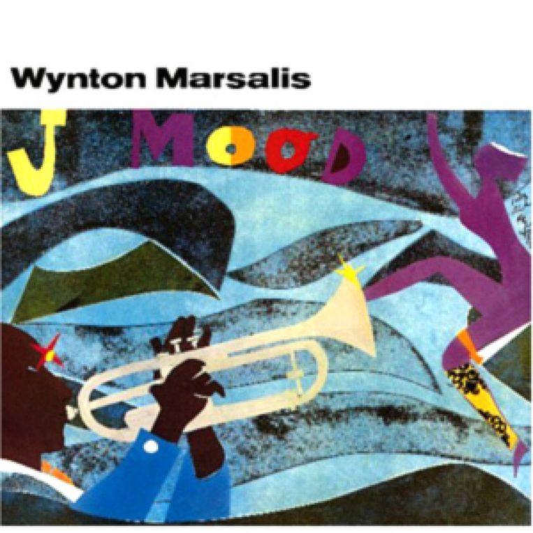 Wynton Marsalis: J Mood. Columbia, 1986. Albumcover Romare Bearden.  Beeld Romare Bearden