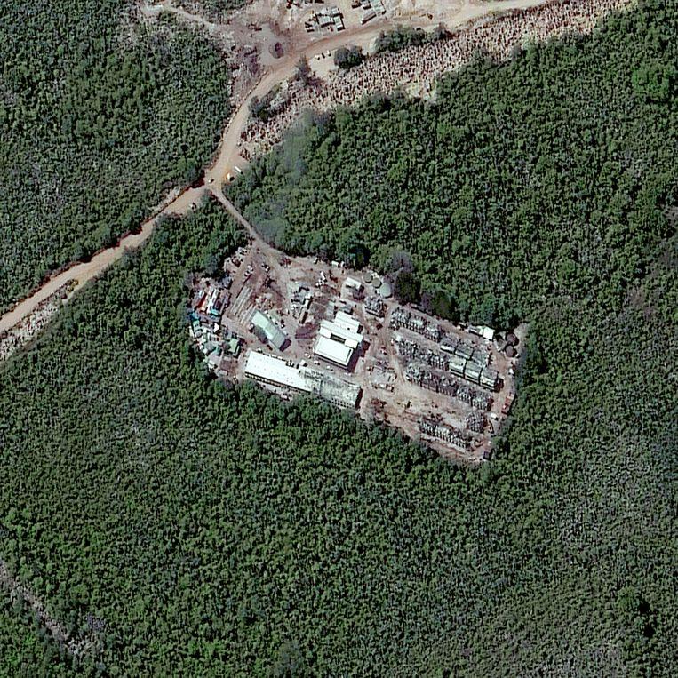 Australische asielzoekersopvang Topside op het eiland Nauru. Beeld Getty Images