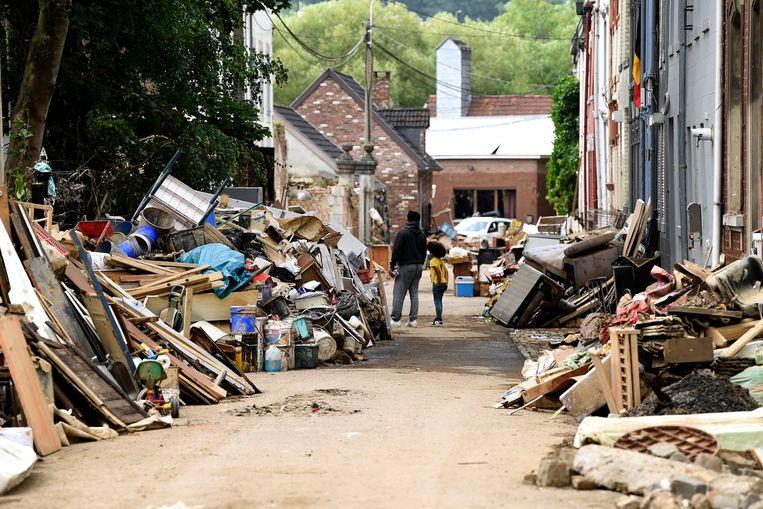 De schade in Verviers is amper te overzien. Beeld Photo News