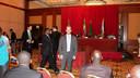Dirk-Jan Omtzigt bij de ondertekening van het akkoord dat  in juli 2011 van Zuid-Soedan een zelfstandige staat maakte.