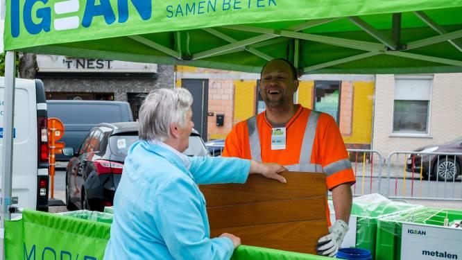 Mobiele recyclagepark strijkt ook dit jaar maandelijks neer op Nielse markt