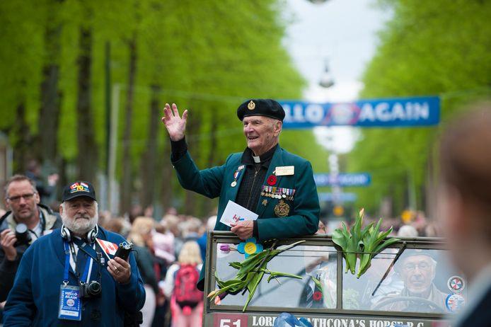 Robert Greene tijdens een van de defilés in Apeldoorn. Foto: Maarten Sprangh