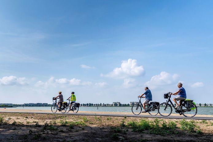 In Bergen op Zoom een nieuw fietspad dat begint ter hoogte van van de Boulevard Noord en doorloopt tot aan de Waterschans.