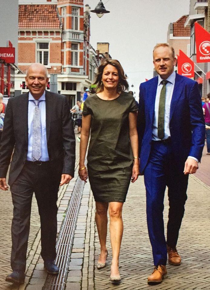 Het college van Winterswijk met v.l.n.r.: Wim Aalderink, Ilse Saris en Wim Elferdink.