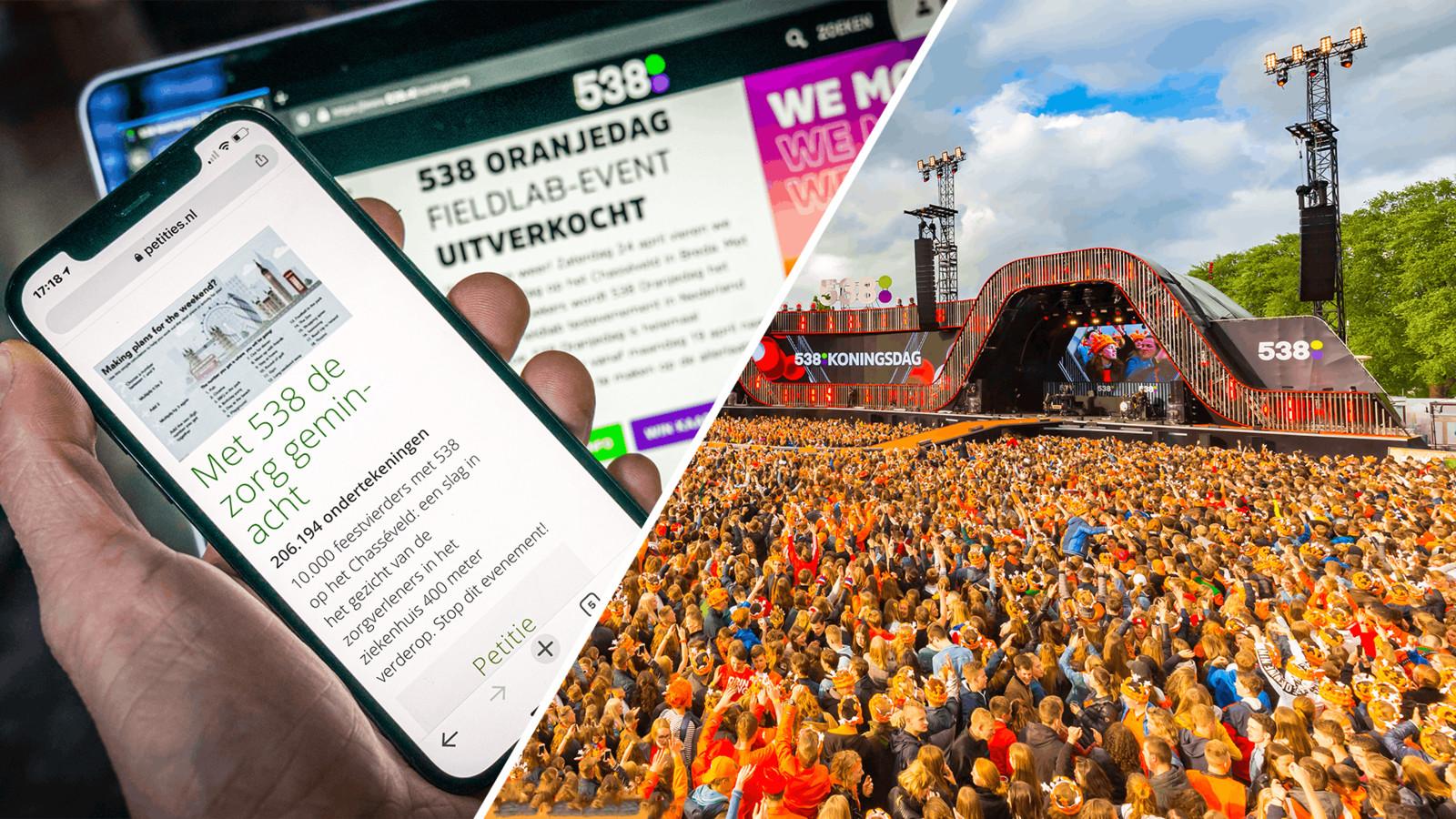 Het omstreden testevenement 538 Oranjedag in Breda gaat niet door. De gemeente Breda heeft besloten geen vergunning te verlenen.