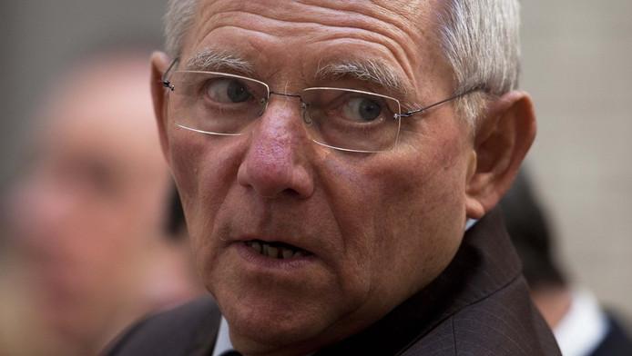 De Duitse minister van Financiën, Wolfgang Schäuble.