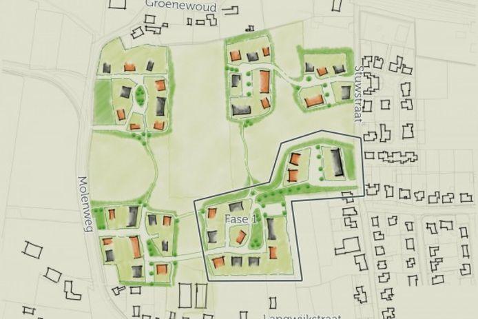 De Groene Beemd in Lithoijen moet een buurt met een dorps karakter worden.