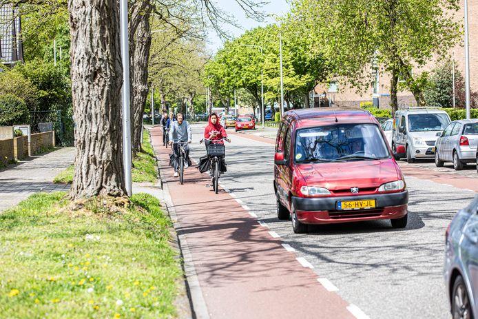De Hogenkampsweg is onderdeel van het hoofdfietsroutenetwerk van Zwolle. Dat maakt meer ruimte voor fietsers wenselijk.