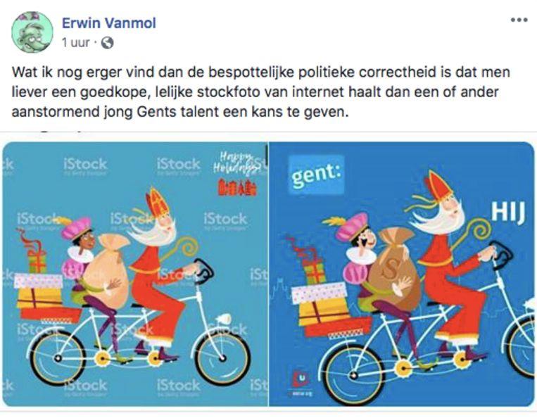 De Facebook-post van cartoonist Erwin Vanmol