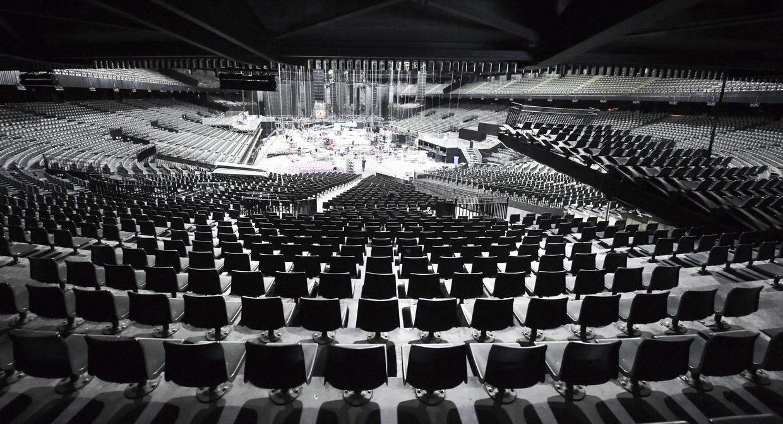 Concertzalen als het Antwerpse Sportpaleis moeten het al bijna een jaar zonder artiesten en publiek doen.   Beeld Photo News