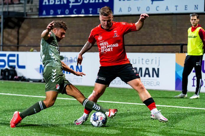 Dylan Seys kende een opmerkelijke invalbeurt tegen FC Emmen en werd na 22 minuten opnieuw gewisseld.