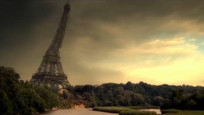 Wanneer de mens verdwenen is, stort de beroemde Eiffeltoren in.