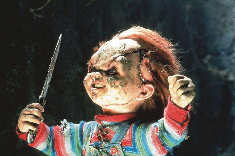 Chucky, de pop die de hoofdrol speelt in de Child's Play-films. Beeld gratis