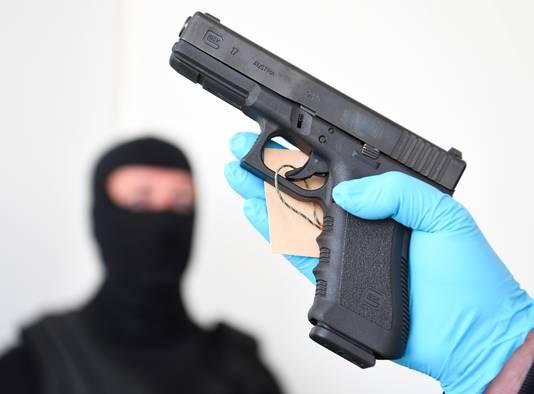 Een Glock-pistool. Het wapen wordt vaak in delen verhandeld.