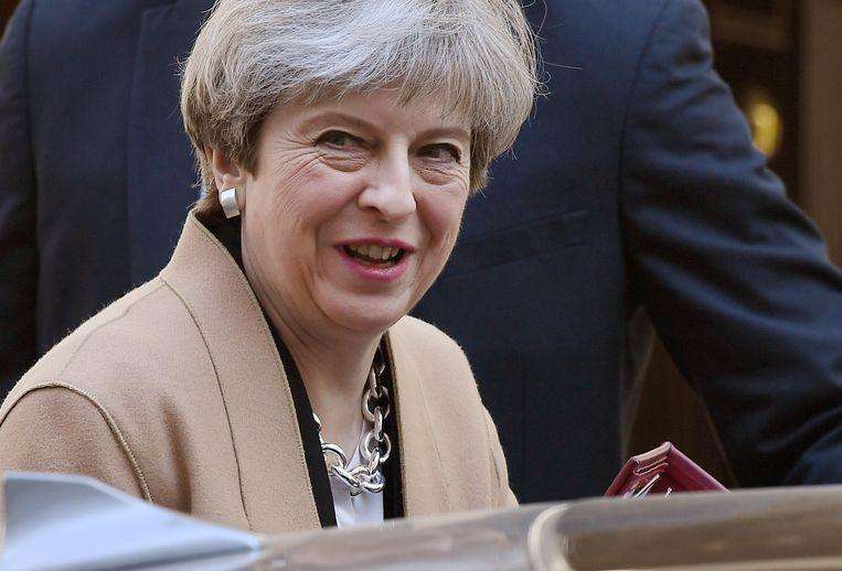 Brits eerste minister Theresa May. Beeld EPA