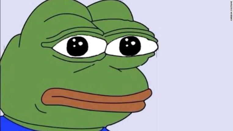 Pepe the Frog, de 'mascotte' van de alt-right-beweging. Beeld RV