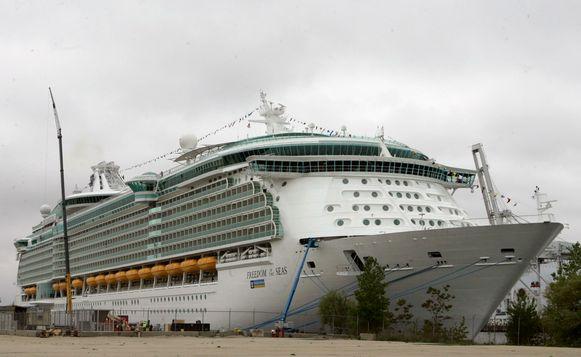 Het cruiseschip waar het tragische ongeval plaatsvond.