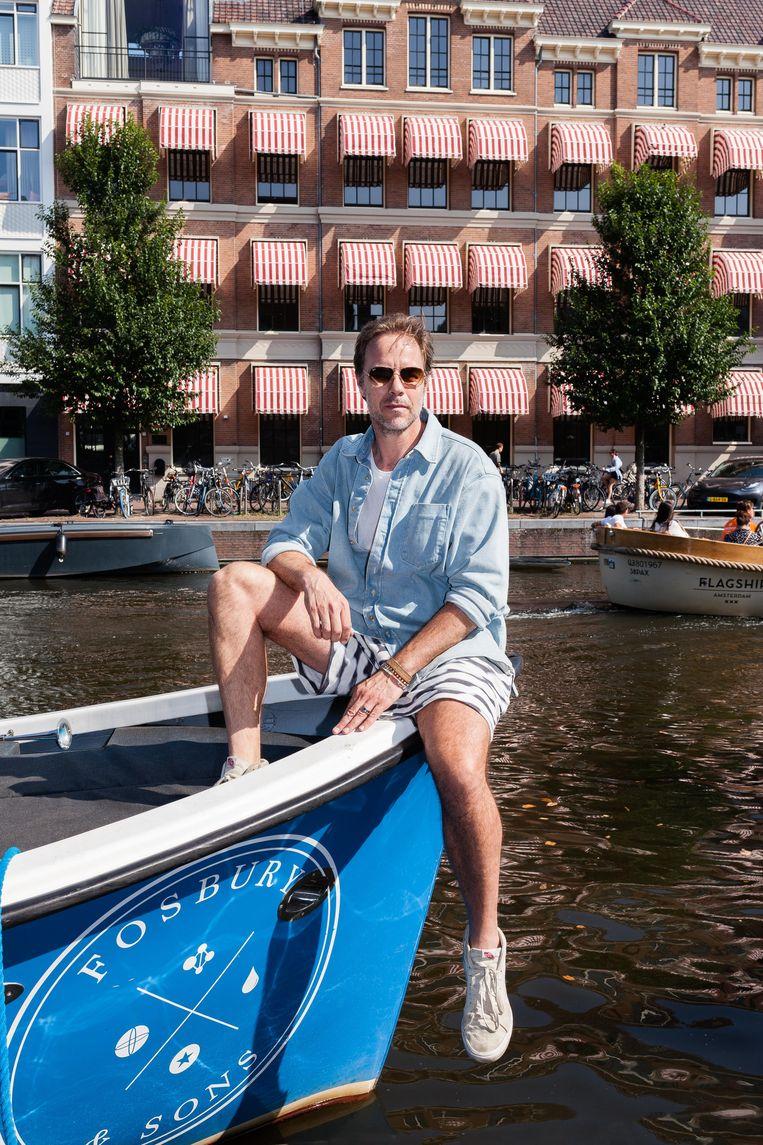 Maarten Beucker Andreae met zijn favoriete vervoermiddel. Beeld Nina Schollaardt