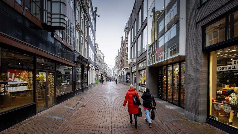 Stilte in de binnenstad van Amsterdam tijdens de lockdown. Beeld ANP