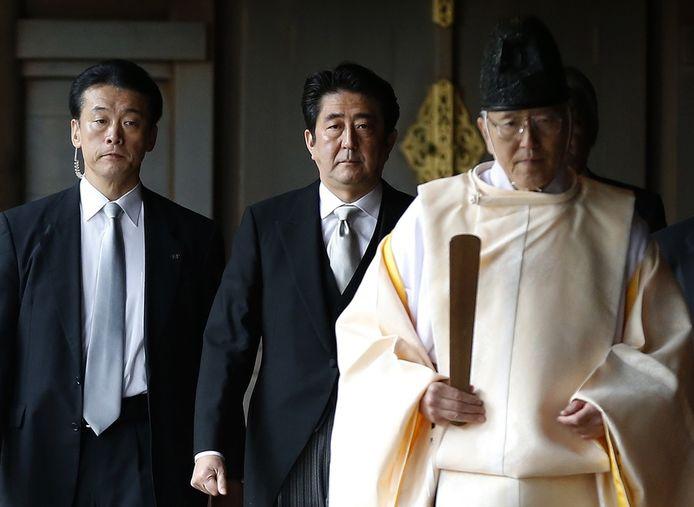 Le Premier ministre japonais Shinzo Abe lors de sa visite au sanctuaire Yasukuni (Tokyo, 26 décembre)