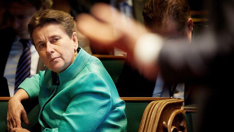 Marjolein Faber (PVV) in de Eerste Kamer. Beeld anp