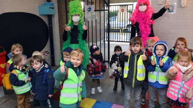 Veilig naar school in donkere dagen: 'Fluofeeën wachten de leerlingen op aan de schoolpoort'