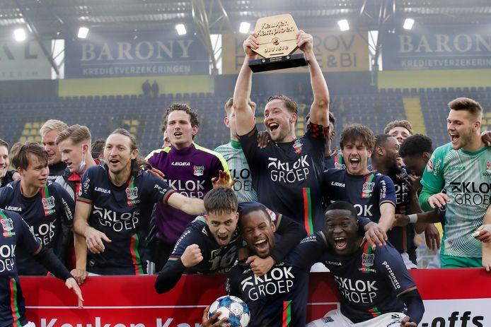 NEC promoveert naar de Eredivisie na een zege op NAC.