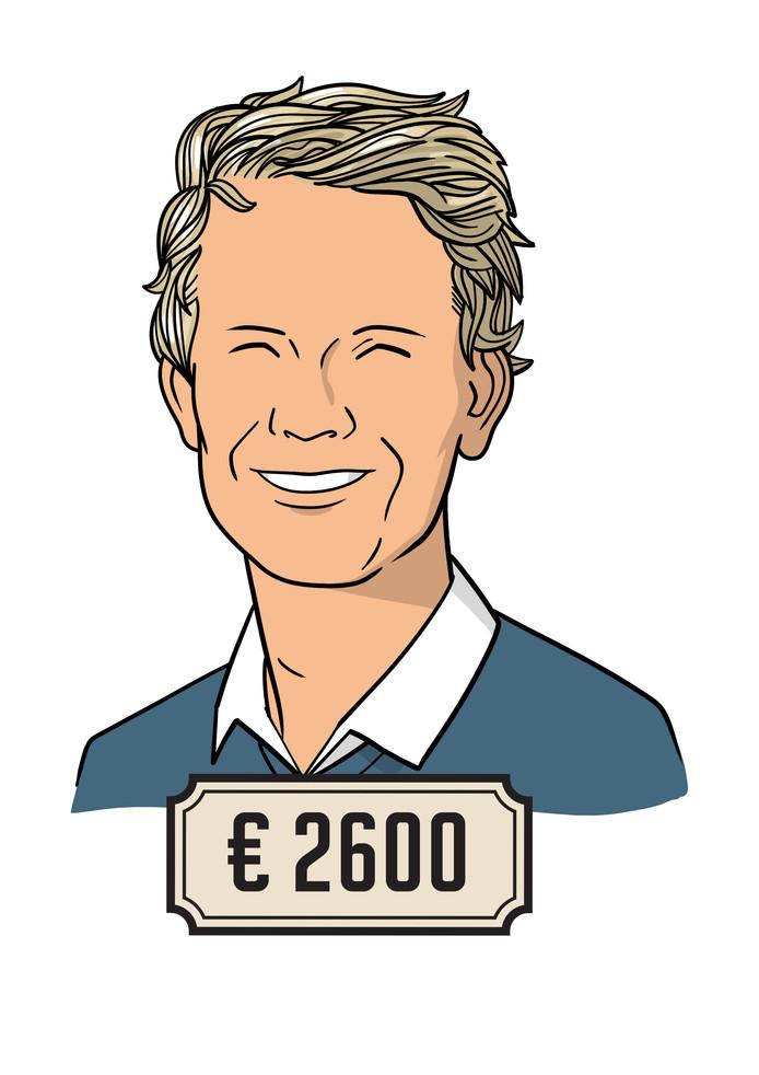 Wouter (22) is accountant bij een multinational en verdient 2600 euro bruto per maand.