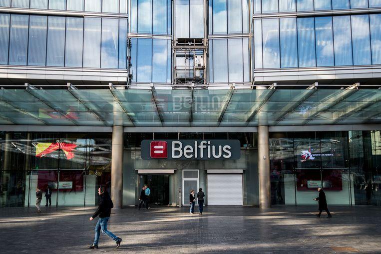 Het Belfius-hoofdkwartier in Brussel. Beeld BELGA