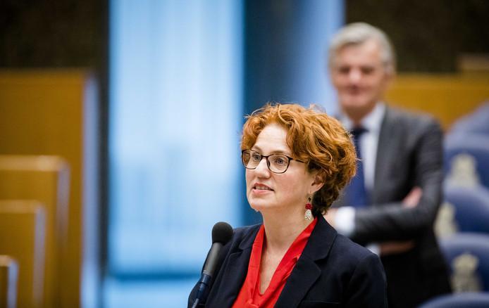 Kathalijne Buitenweg (Groenlinks) vorig jaar tijdens een Tweede Kamerdebat over de Europese top en de brexit.
