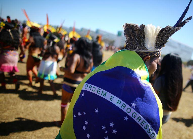 Protest tegen Bolsonaro. Beeld REUTERS