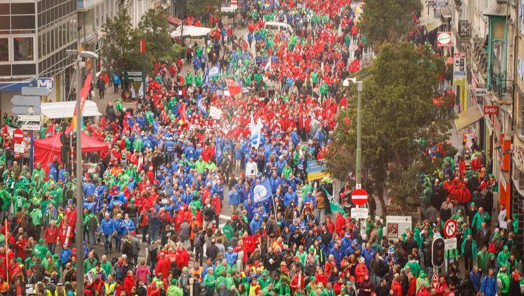 Archiefbeeld nationale betoging. Beeld belga