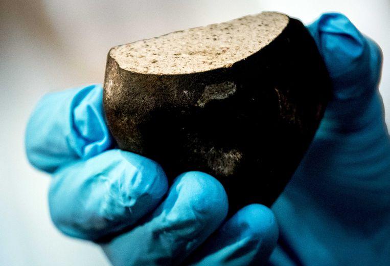 Een meteoriet die in 2017 neerstortte bij Broek in Waterland. Foto ter illustratie.  Beeld ANP