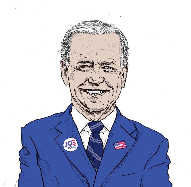Portet Joe Biden door de ogen van illustrator Gijs Kast. Beeld Gijs Kast