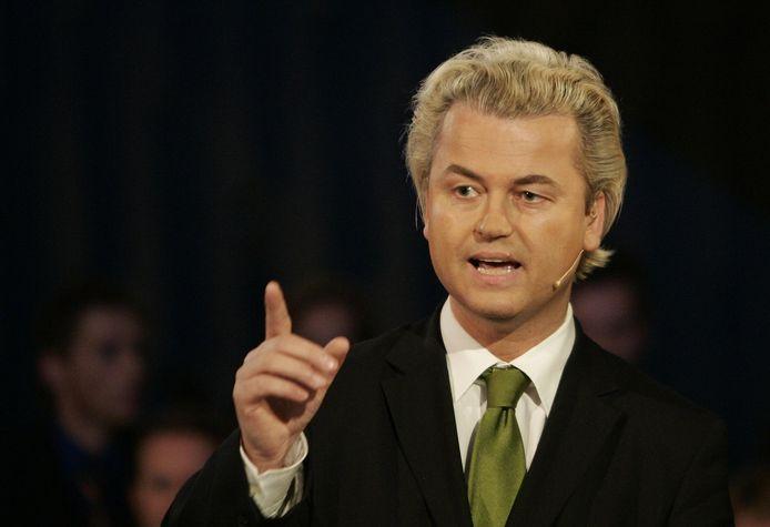 Wilders in 2006, voorafgaand aan de Tweede Kamerverkiezingen