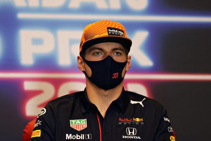 Max Verstappen tijdens de persconferentie voor de GP van Azerbeidzjan.