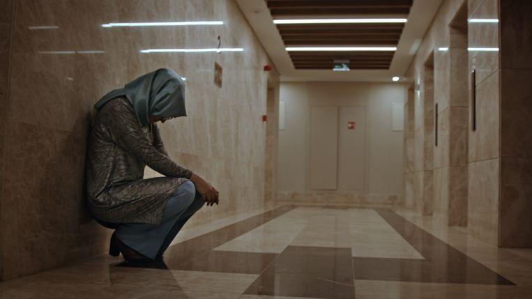Hatice Cengiz, de Turkse verloofde van Khashoggi in 'The Dissident'.  Beeld