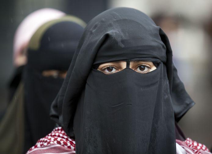 Een vrouw met nikab, foto ter illustratie.