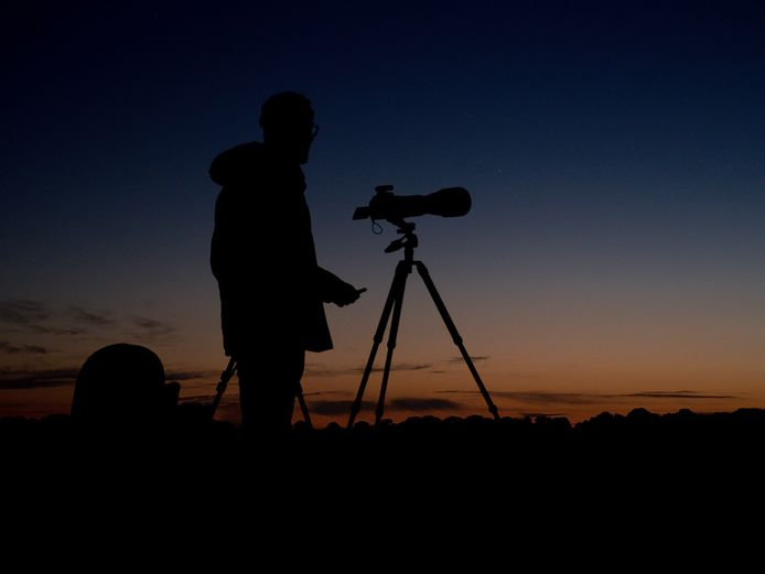Wim Baan staat het liefst op de Koningsbelten op de Sprengenberg waar hij de zonsondergangen vastlegt.