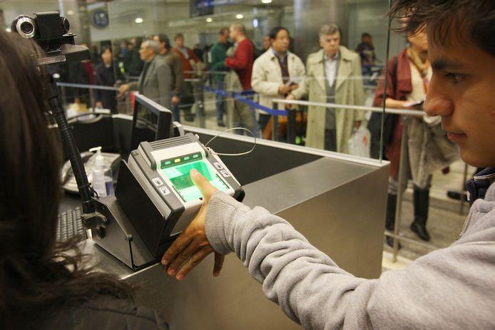 Archiefbeeld: registratie bij binnenkomst in de VS.