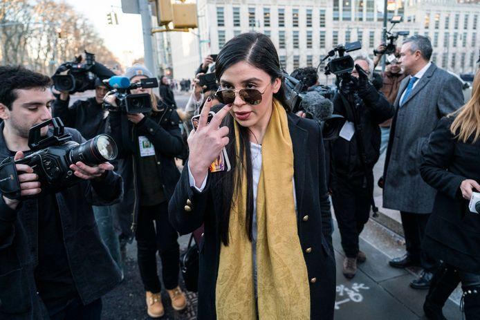 Emma Coronel Aispuro op 4 februari 2019 in Brooklyn.