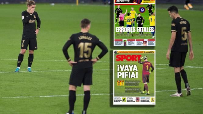 """Barcelona afgemaakt in Spaanse media: """"Ze hadden beter thuis kunnen blijven, een schande"""""""