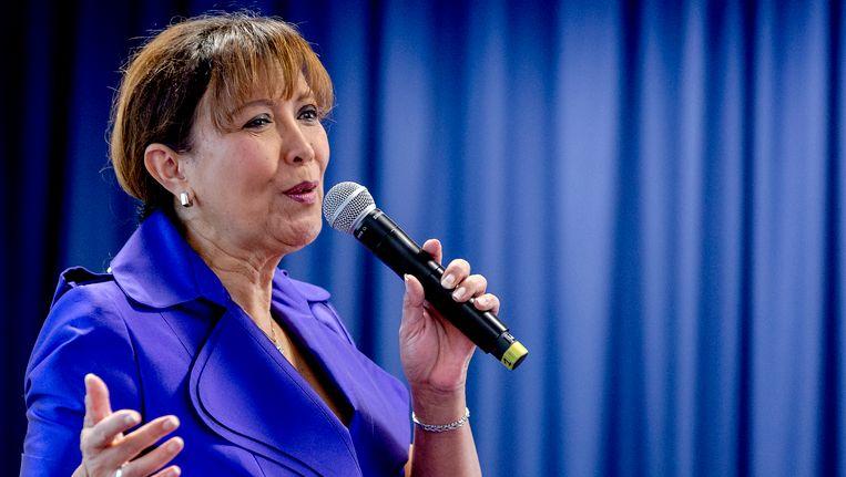 Een optreden van Sandra Reemer in 2015 tijdens de aftrap van verkiezingscampagne van ouderenpartij 50Plus voor de Provinciale Staten. Beeld anp