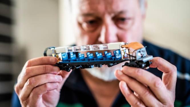 Rob (70) bouwt modeltreintjes en heeft tienduizenden onderdelen: 'De treinen staan door het hele huis'