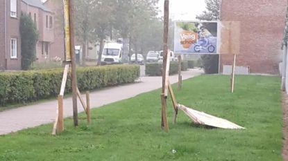 Affiche burgemeester voor derde keer vernield