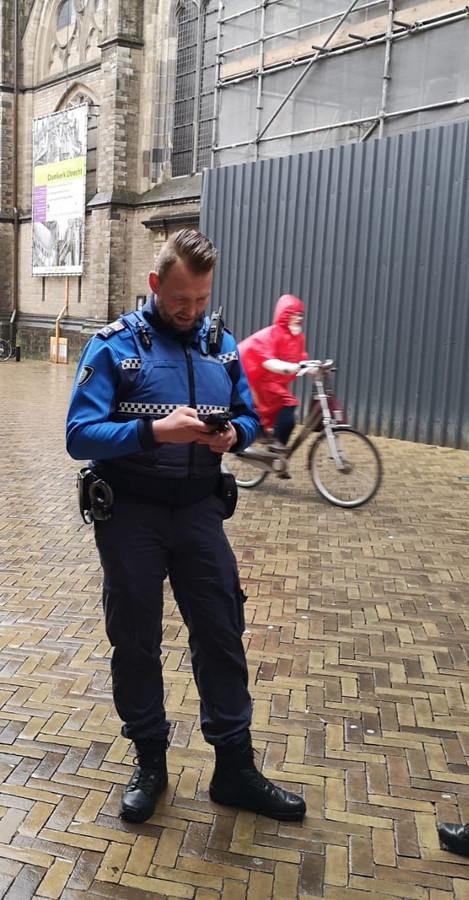 Joost van der Louw 'on duty'.